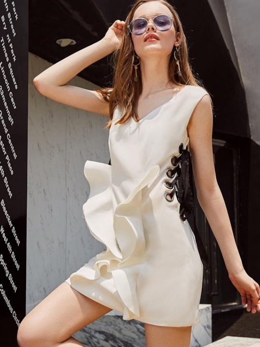 White Bandage Women's Sheath Dress