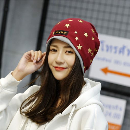 Cotton Gold Stamping Stars European Style Hats