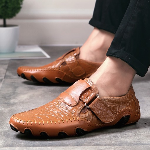 Slip-On Crocodile Grain Men's Dress Shoes