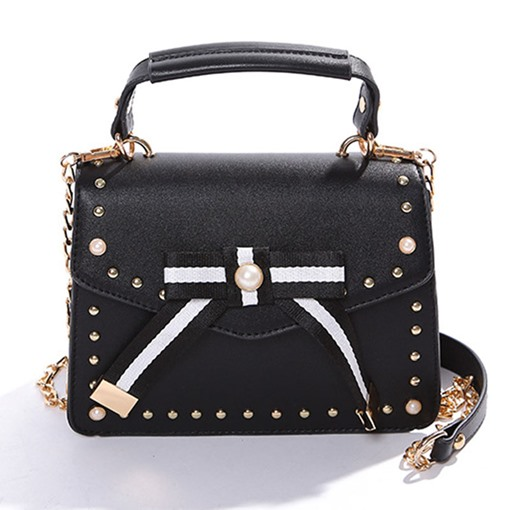 Stylish Rivet Patchwork Cross Body Bag