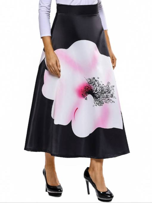 Floral Ankle-Length Expansion Women's Skirt