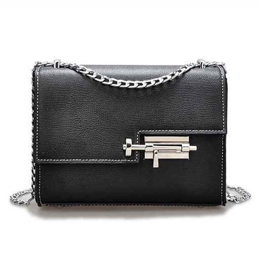 Fashion Latch Design Chain Cross Body Bag