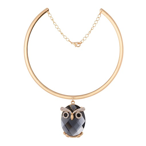 Owl Crystal-Shaped Alloy Unique Torques Necklace