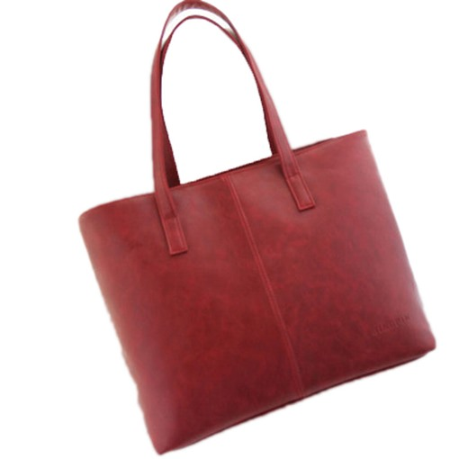 Occident Style Simple Solid Color Women Tote