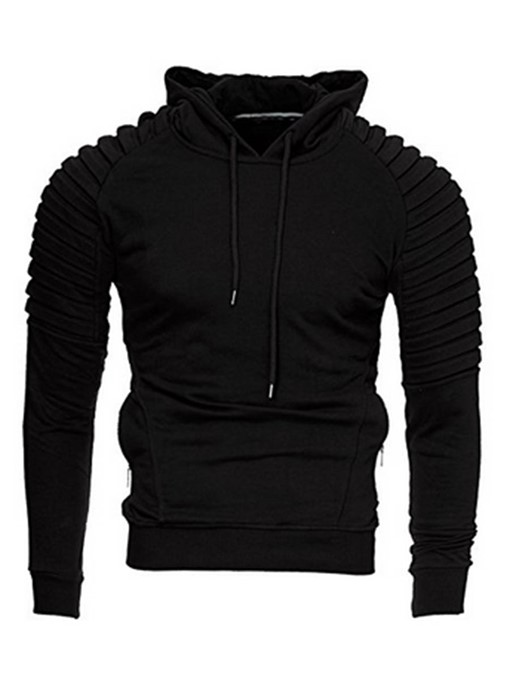 Hooded Solid Color Slim Fit Men's Hoodie