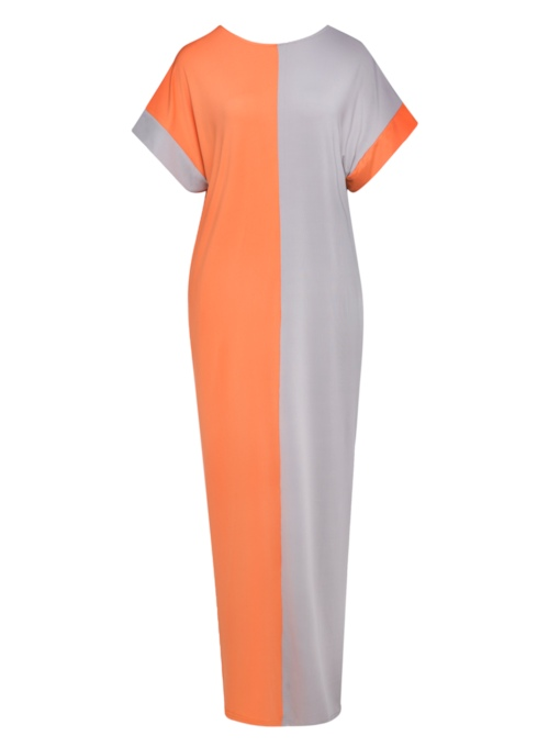 Short Sleeve Loose Women's Maxi Dress