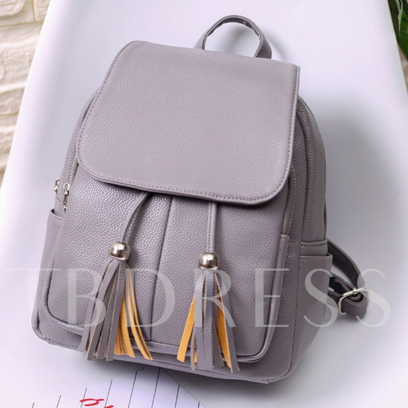 Versatile Covered Type Tassel Women Backpack