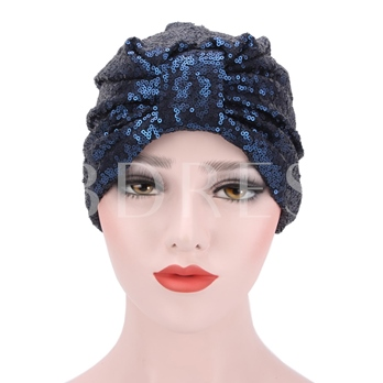 Sequins Pleated Cotton Hot Sale Skullies & Beanies Hats