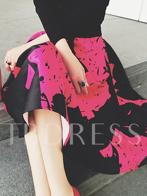 Expansion Floral Pleated Women's Skirt
