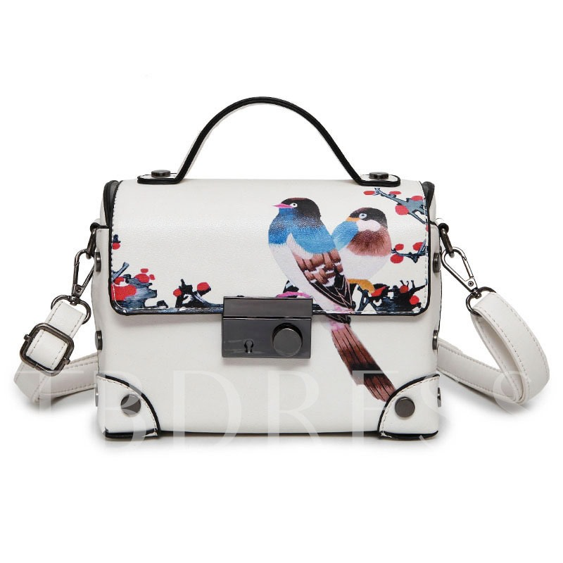 Chinese Style Printing Thread Cross Body Bag