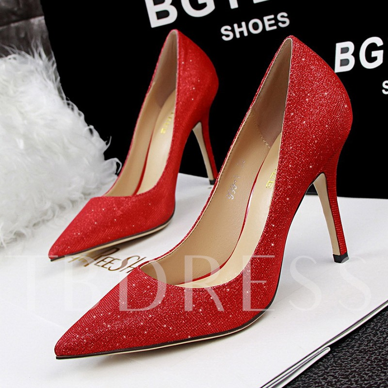 Pointed Toe Slip-On Glitter Banquet Women's Dress Shoes