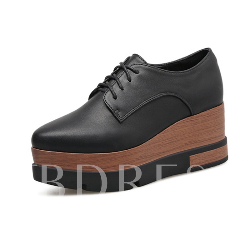 Buy Lace-Up Color Block Platform Sneaker Shoes, Spring,Summer,Fall, 12951577 for $27.99 in TBDress store
