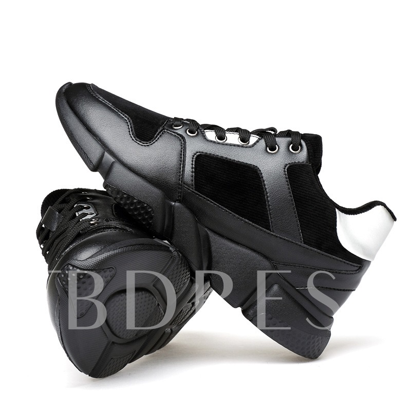 Lace-Up Color Block Short Floss Men's Running Shoes