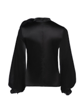 Applique Plain Loose Zipper Women's Blouse