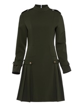 Army Turtle Neck Women's Long Sleeve Dress