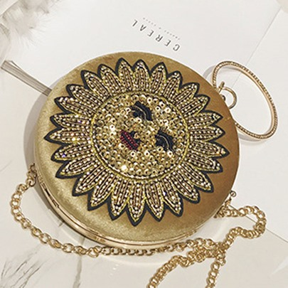 Dazzling Shining Sequins Circular Cross Body