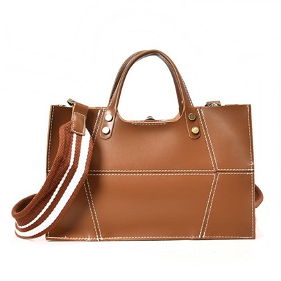 British Style Solid Color Cross Body Bag