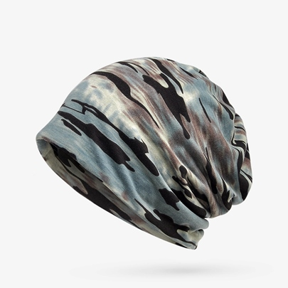 Camouflage Cotton All Match Soft Skullies & Beanies Men's Hats