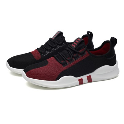 Mesh Lace-Up Front Men's Athletic Shoes