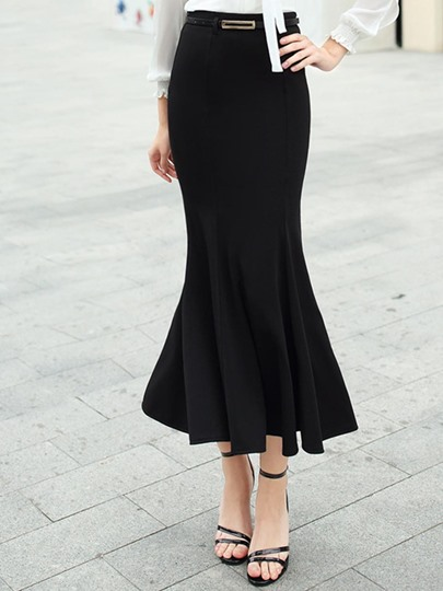 Slim Zipper High-Waist Women's Fishtail Skirt