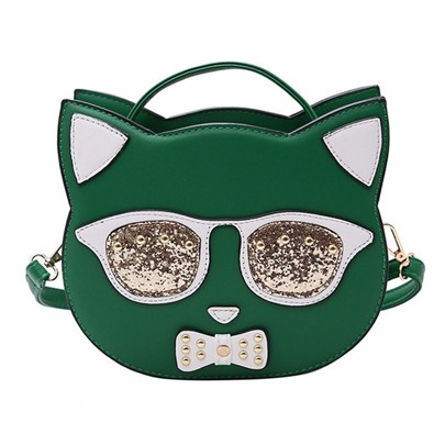 Personality Kitty Shape Cross Body Bag