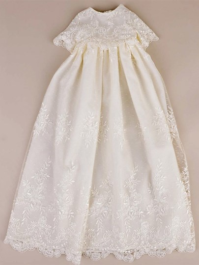 Sleeves Sashes Lace Baby Girl's Christening Gowns