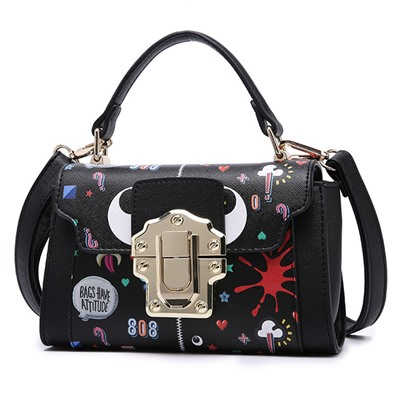 Trendy Patchwork Latch Women Tote Bag