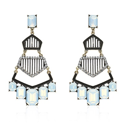 Rectangle Rhinestone Bohemian Geometric Earrings