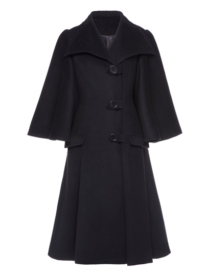 A-line Long Single-breasted Flare Sleeve Women's Overcoat