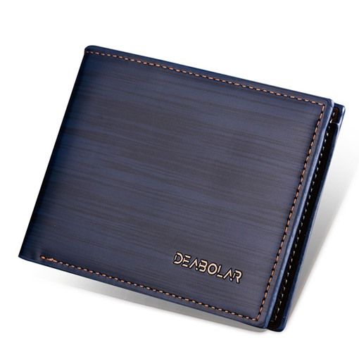Simplicity Solid Color PU Men's Wallet