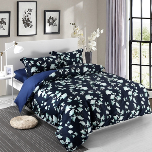 Plant Eroupe Print 4-Piece Cotton Bedding Sets
