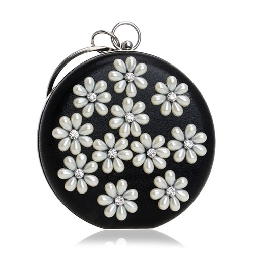 Simple Beads Floral Patchwork Mini Evening Clutch
