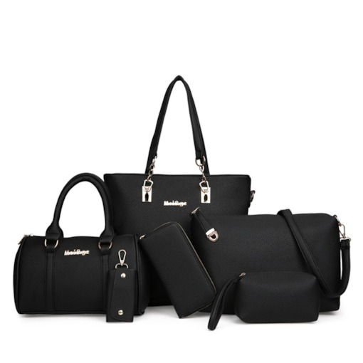 Practical Solid Color Women Bag Set