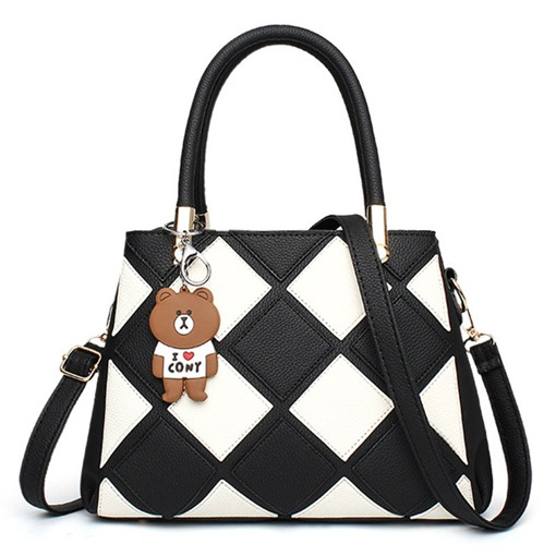 Korean Style Plaid Pattern Women Tote