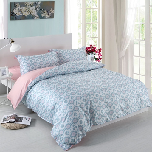 Plain Floral Pastoral 4pcs Bedding Sets