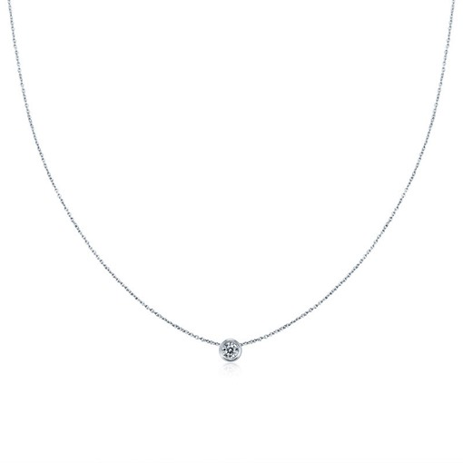 Zircon Inlaid Diamante Popcorn Chain Necklace