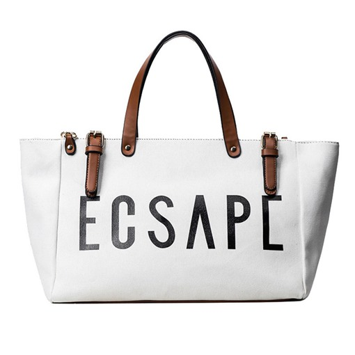 Fashionable Letters Design Canvas Handbag