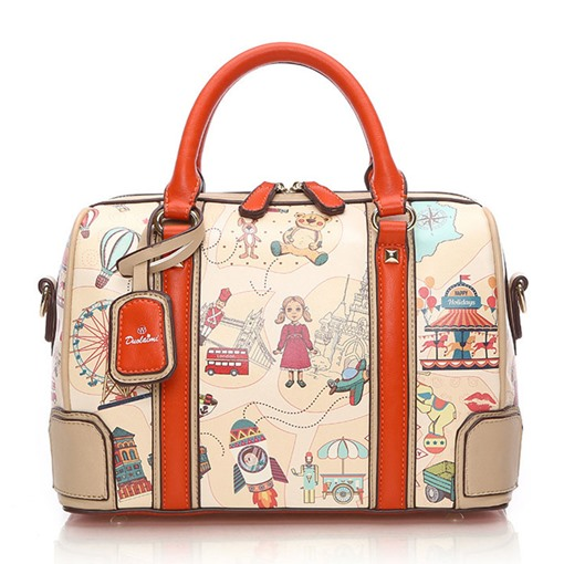 Trendy Cartoon Printing Pillow Women Tote