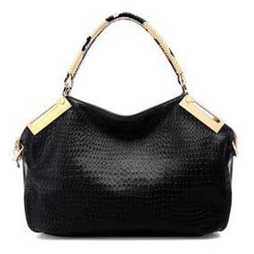 Well-Match Crocodile Print Zipper Tote