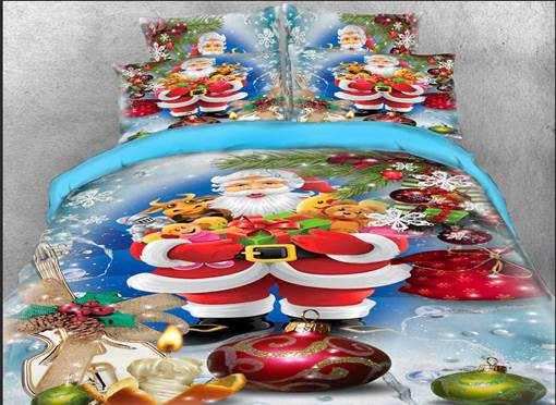 3D Christmas Santa Claus Gifts Printed Bedding Sets/Duvet Covers