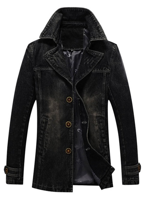 Lapel Single-Breasted Men's Jacket