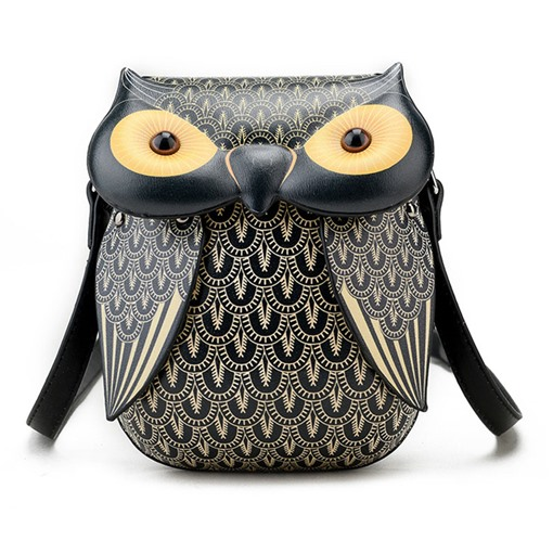 Personality Owl Pattern Printing Cross Body Bag