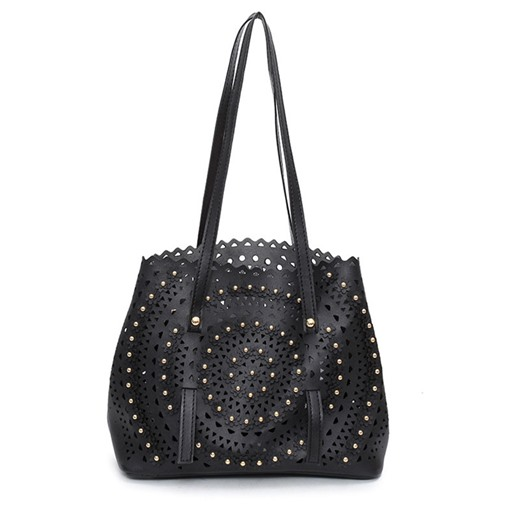 Well-Match Concise Hollowed Zipper Tote