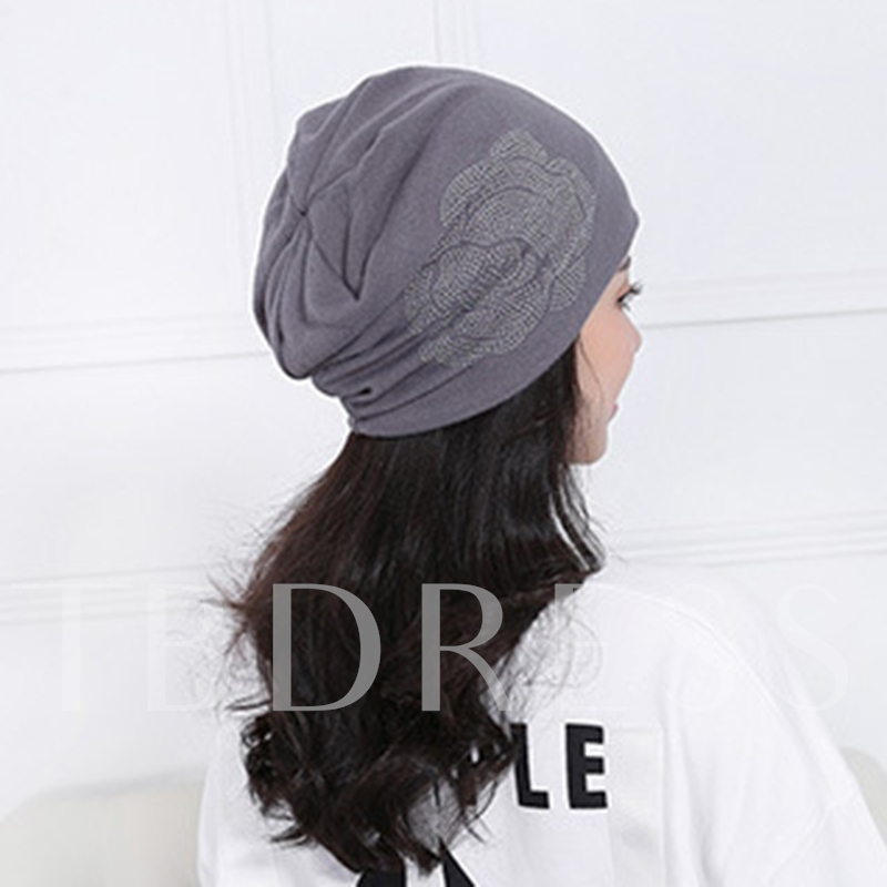 Hot Drilling Weave Solid Color Hats