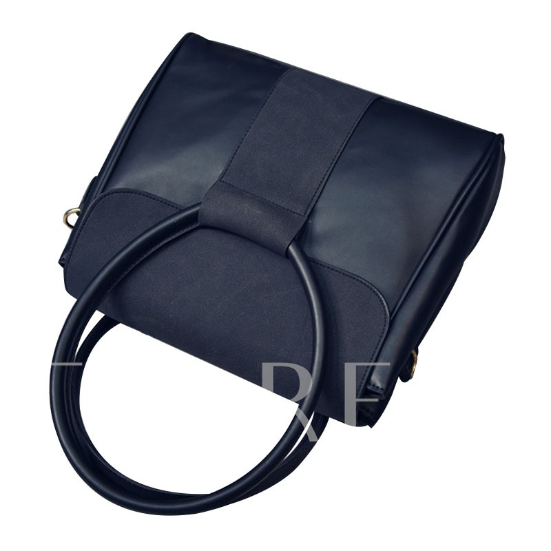 Fashion Circular Ring Handle Matting Tote