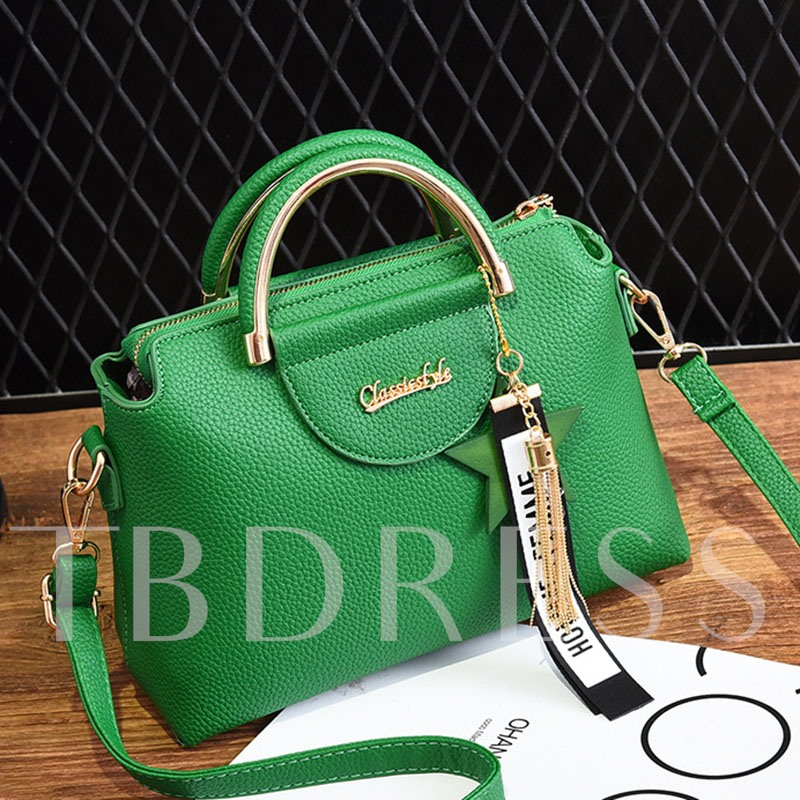 Personality Pendant Solid Color Women Tote