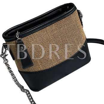 Well-Match Concise Patchwork Chain Cross Body