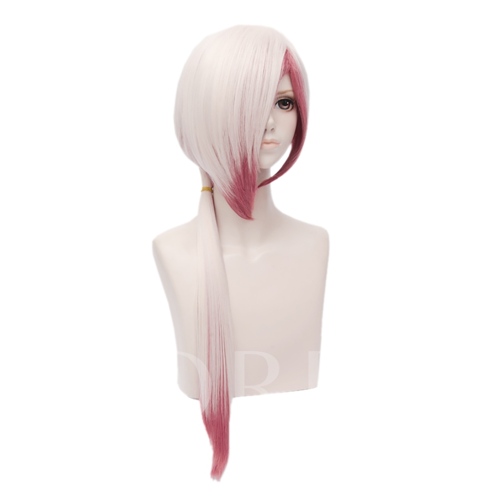 Onmyouji Pink Ombre Straight Synthetic Hair Capless Halloween Cosplay Wig 28 Inches