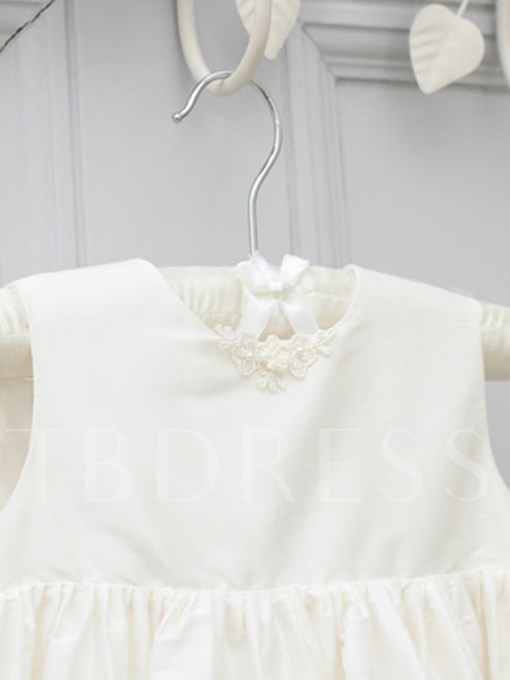 Long Sleeves Sashes Long Lace Baby Girl's Christening Gown