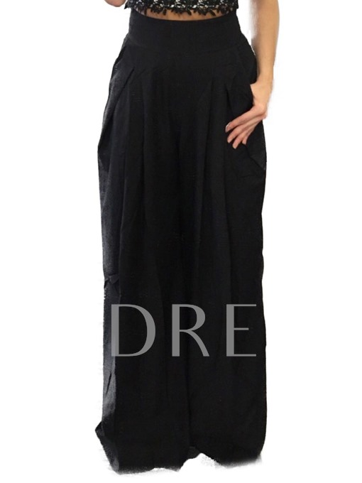 Loose Pleated High-Waist Women's Casual Pants
